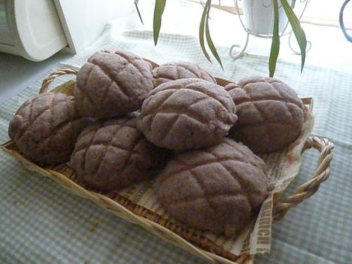 ココア味メロンパン